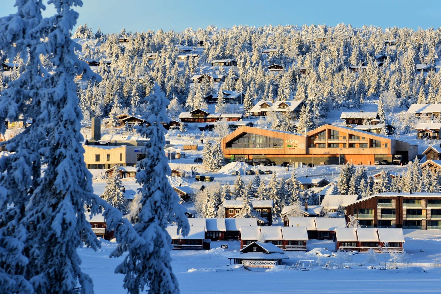 Nye Graaten i Sjusjøen sentrum