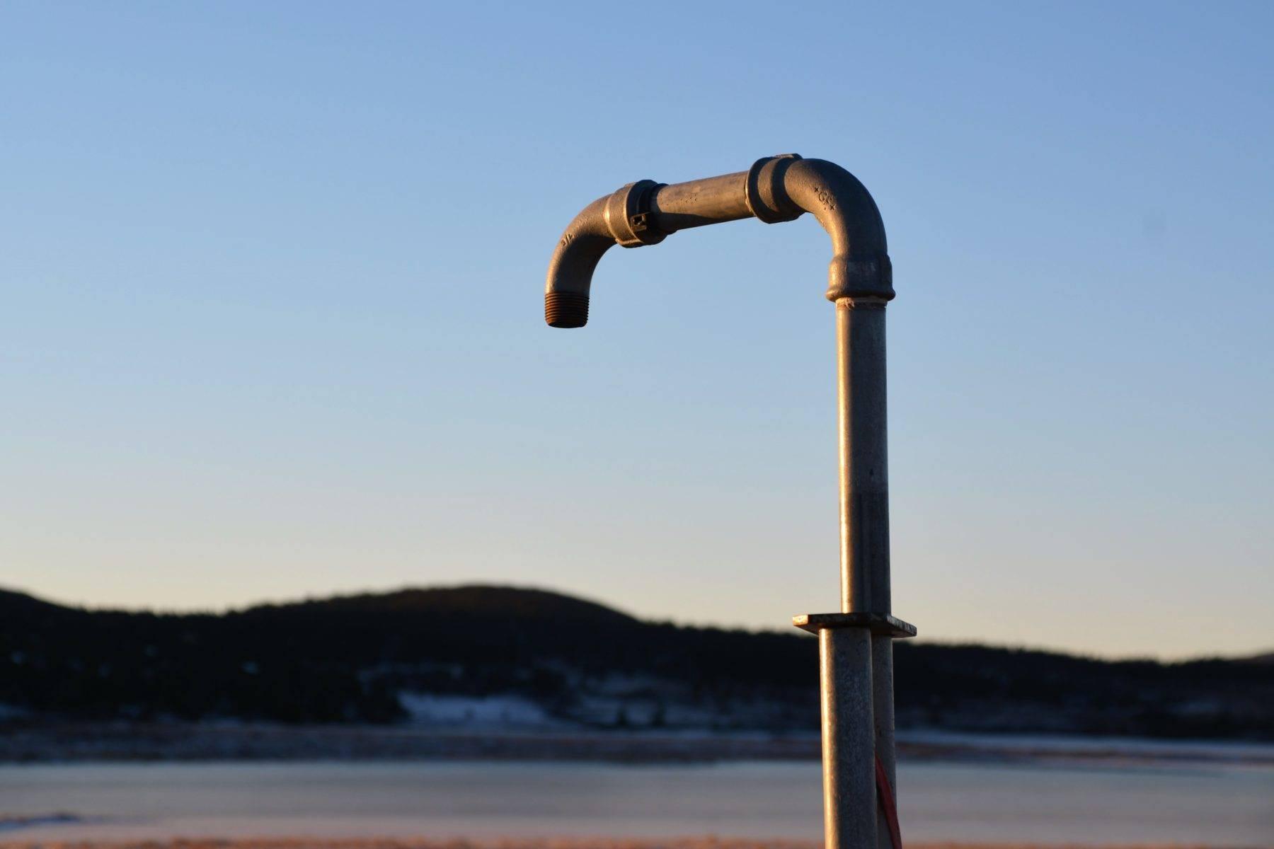 Tappepunkt på Sjusjøen