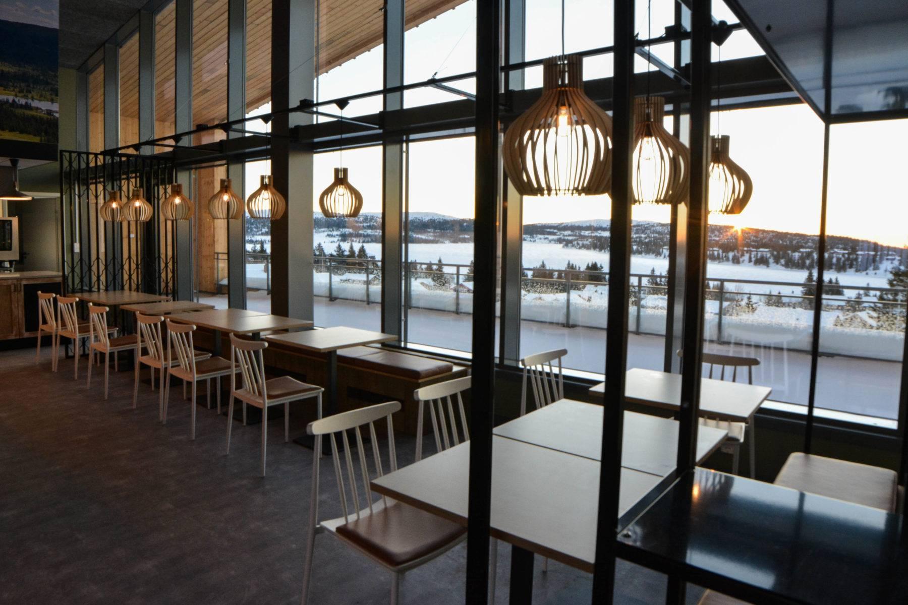 Ny restaurant med utsikt på Sjusjøen